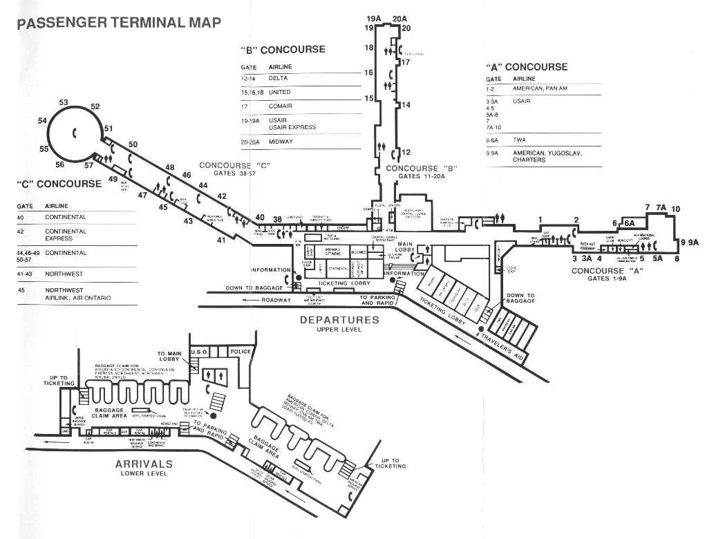 Cleveland Hopkins Airport Terminal Map Rob Bauer
